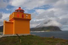Un pequeño faro anaranjado agradable Fotografía de archivo libre de regalías