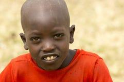 Un pequeño muchacho del Masai Imagenes de archivo