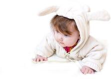 Un pequeño niño hermoso en el traje del animal Foto de archivo libre de regalías