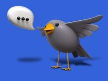 Un pequeño pájaro me dijo ilustración del vector