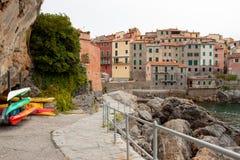 Un pequeño pueblo pesquero en Italia imagen de archivo libre de regalías
