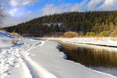 Un pequeño río en el campo Foto de archivo libre de regalías