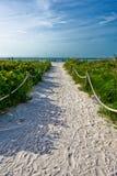 Un percorso alla spiaggia fotografie stock libere da diritti