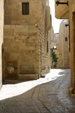 Un percorso di vecchia città di Gerusalemme, Israele Fotografia Stock Libera da Diritti
