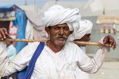 Un peregrino hindú en el Kumbha Mela, la India Fotos de archivo libres de regalías