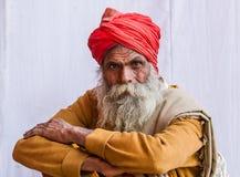 Un peregrino hindú en el Kumbha Mela, la India Fotografía de archivo libre de regalías
