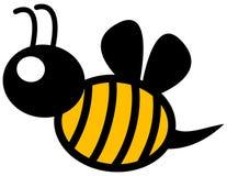 Un perfil amarillo de la abeja Fotografía de archivo libre de regalías