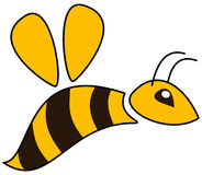 Un perfil amarillo de la abeja Imagenes de archivo