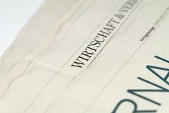 Un periódico Imágenes de archivo libres de regalías