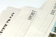 Un periódico Foto de archivo libre de regalías