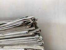 Un periódico viejo foto de archivo libre de regalías