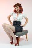 Un perno grazioso sulla ragazza Fotografia Stock