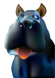 Un perro con la lengua roja Imagen de archivo libre de regalías