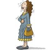 Un personnage féminin avec le sourire drôle Photo libre de droits