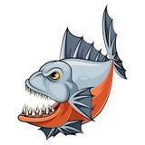 Un pescado de la piraña de la historieta stock de ilustración