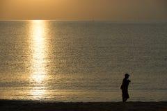 Un pescatore Immagini Stock Libere da Diritti