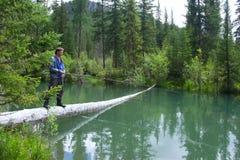 Un pescatore Immagini Stock