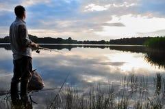 Un pescatore Immagine Stock