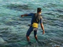 Un pescatore cubano Fotografia Stock