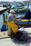 Un pescatore maltese Fotografie Stock