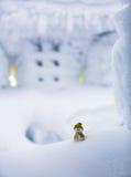 Un petit ami de bonhomme de neige Image stock