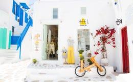 Un petit coin, Mykonos image libre de droits