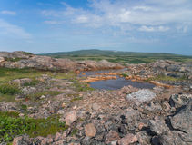 Un petit lac de montagne Photo libre de droits