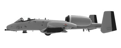 Un petit plan militaire des pays des USA et de l'OTAN illustration 3D Photo stock