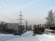 Un petit secteur dans une des villes russes Photographie stock libre de droits