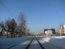 Un petit secteur dans une des villes russes Photos libres de droits