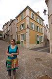 Un petit, vieux village français photographie stock