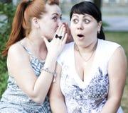 Un pettegolezzo delle due ragazze Fotografia Stock