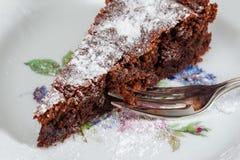 Primo piano del dolce di cioccolato Immagini Stock