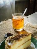 Un pezzo di cioccolato casalingo del cakewith del biscotto spruzza immagine stock libera da diritti