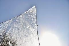 Un pezzo di ghiaccio dal sole Fotografia Stock Libera da Diritti
