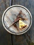 Un pezzo di pizza Fotografia Stock