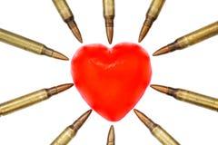 Attacco di cuore isolato Fotografie Stock Libere da Diritti