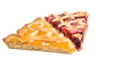 un pezzo di torta della frutta Immagini Stock