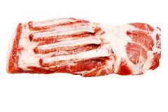 Un pezzo solo del dolce fresco del petto della carne suina Fotografie Stock