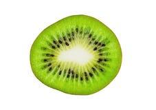 Un pezzo solo del kiwi maturo fresco isolato su bianco immagine stock libera da diritti