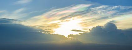 Un phénomène rare de nuage photo stock