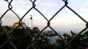 Un phare au cap Elizabeth Photos libres de droits