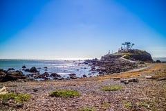 Un phare de point de batterie en parcs de ressortissant et d'état de séquoia, la Californie photos stock