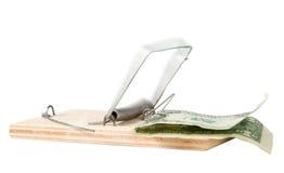 Un piège de souris avec l'argent Image libre de droits