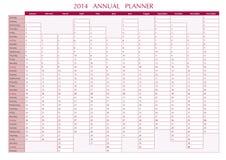 Un pianificatore di 2014 annuali Immagine Stock Libera da Diritti