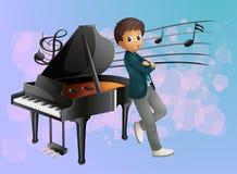 Un piano au fond du musicien Photos libres de droits