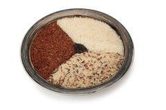 Un piatto ceramico con riso fotografia stock libera da diritti