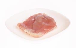 Un piatto con carne di pollo Fotografia Stock Libera da Diritti