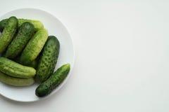 Un piatto dei cetrioli Fotografia Stock Libera da Diritti