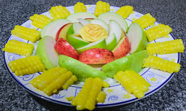 Un piatto della frutta Fotografie Stock